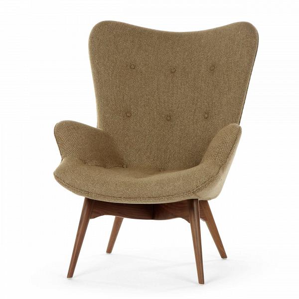 Кресло Contour 2Интерьерные<br>Дизайнерское глубокое кресло Contour 2 (Кантур 2) обивкой из ткани на деревянных ножках от Cosmo (Космо).<br><br><br> Австралийцы любят хороший дизайн воВвсем, отВоформления винных бочонков доВсерферных досок. Одним изВсамых ярких дизайнеров стал художник Грант Фезерстон, который начал заниматься дизайном в сороковых годах прошлого столетия иВсВтех пор стал иконой стиля воВвсем мире.<br><br><br> Идеальное как для прихожей, так иВдля гостиной, оригинальное кресл...<br><br>stock: 3<br>Высота: 91<br>Высота сиденья: 37<br>Ширина: 73,5<br>Глубина: 83<br>Цвет ножек: Орех американский<br>Материал ножек: Массив ореха<br>Материал обивки: Шерсть, Нейлон<br>Коллекция ткани: B Fabric<br>Тип материала обивки: Ткань<br>Тип материала ножек: Дерево<br>Цвет обивки: Бежево-зеленый<br>Дизайнер: Grant Featherston