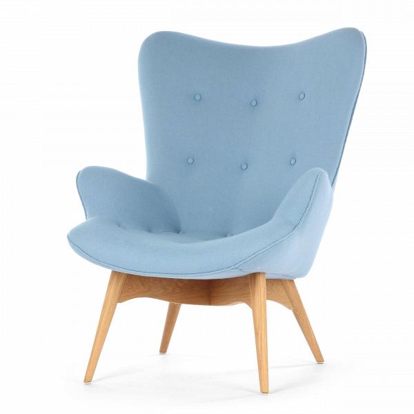 Кресло Contour 2Интерьерные<br>Дизайнерское глубокое кресло Contour 2 (Кантур 2) обивкой из ткани на деревянных ножках от Cosmo (Космо).<br><br><br> Австралийцы любят хороший дизайн воВвсем, отВоформления винных бочонков доВсерферных досок. Одним изВсамых ярких дизайнеров стал художник Грант Фезерстон, который начал заниматься дизайном в сороковых годах прошлого столетия иВсВтех пор стал иконой стиля воВвсем мире.<br><br><br> Идеальное как для прихожей, так иВдля гостиной, оригинальное кресл...<br><br>stock: 3<br>Высота: 91<br>Высота сиденья: 37<br>Ширина: 73,5<br>Глубина: 83<br>Цвет ножек: Дуб<br>Материал ножек: Массив дуба<br>Материал обивки: Шерсть, Нейлон<br>Коллекция ткани: T Fabric<br>Тип материала обивки: Ткань<br>Тип материала ножек: Дерево<br>Цвет обивки: Светло-голубой<br>Дизайнер: Grant Featherston