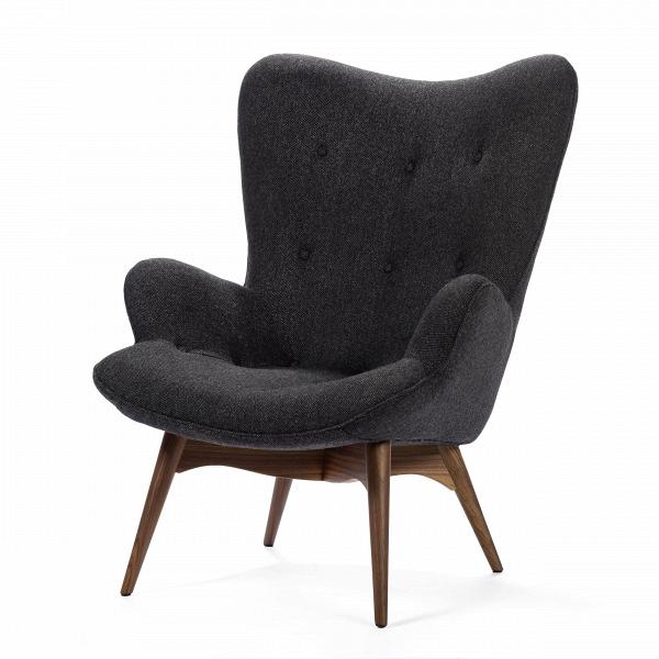 Кресло Contour 2Интерьерные<br>Дизайнерское глубокое кресло Contour 2 (Кантур 2) обивкой из ткани на деревянных ножках от Cosmo (Космо).<br><br><br> Австралийцы любят хороший дизайн воВвсем, отВоформления винных бочонков доВсерферных досок. Одним изВсамых ярких дизайнеров стал художник Грант Фезерстон, который начал заниматься дизайном в сороковых годах прошлого столетия иВсВтех пор стал иконой стиля воВвсем мире.<br><br><br> Идеальное как для прихожей, так иВдля гостиной, оригинальное кресл...<br><br>stock: 0<br>Высота: 91<br>Высота сиденья: 37<br>Ширина: 73,5<br>Глубина: 83<br>Цвет ножек: Орех американский<br>Материал ножек: Массив ореха<br>Материал обивки: Шерсть, Нейлон<br>Коллекция ткани: B Fabric<br>Тип материала обивки: Ткань<br>Тип материала ножек: Дерево<br>Цвет обивки: Темно-серый<br>Дизайнер: Grant Featherston