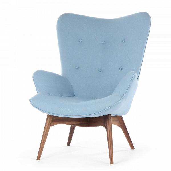 Кресло Contour 2Интерьерные<br>Дизайнерское глубокое кресло Contour 2 (Кантур 2) обивкой из ткани на деревянных ножках от Cosmo (Космо).<br><br><br> Австралийцы любят хороший дизайн воВвсем, отВоформления винных бочонков доВсерферных досок. Одним изВсамых ярких дизайнеров стал художник Грант Фезерстон, который начал заниматься дизайном в сороковых годах прошлого столетия иВсВтех пор стал иконой стиля воВвсем мире.<br><br><br> Идеальное как для прихожей, так иВдля гостиной, оригинальное кресл...<br><br>stock: 7<br>Высота: 91<br>Высота сиденья: 37<br>Ширина: 73,5<br>Глубина: 83<br>Цвет ножек: Орех американский<br>Материал ножек: Массив ореха<br>Материал обивки: Шерсть, Нейлон<br>Коллекция ткани: T Fabric<br>Тип материала обивки: Ткань<br>Тип материала ножек: Дерево<br>Цвет обивки: Светло-голубой<br>Дизайнер: Grant Featherston
