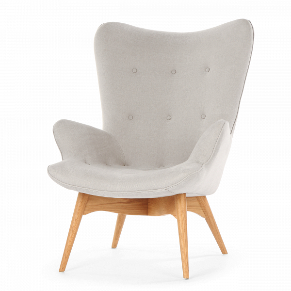 Кресло Contour 2Интерьерные<br>Дизайнерское глубокое кресло Contour 2 (Кантур 2) обивкой из ткани на деревянных ножках от Cosmo (Космо).<br><br><br> Австралийцы любят хороший дизайн воВвсем, отВоформления винных бочонков доВсерферных досок. Одним изВсамых ярких дизайнеров стал художник Грант Фезерстон, который начал заниматься дизайном в сороковых годах прошлого столетия иВсВтех пор стал иконой стиля воВвсем мире.<br><br><br> Идеальное как для прихожей, так иВдля гостиной, оригинальное кресл...<br><br>stock: 0<br>Высота: 91<br>Высота сиденья: 37<br>Ширина: 73,5<br>Глубина: 83<br>Цвет ножек: Дуб<br>Материал ножек: Массив дуба<br>Материал обивки: Хлопок, Лен<br>Коллекция ткани: Ray Fabric<br>Тип материала обивки: Ткань<br>Тип материала ножек: Дерево<br>Цвет обивки: Светло-серый<br>Дизайнер: Grant Featherston