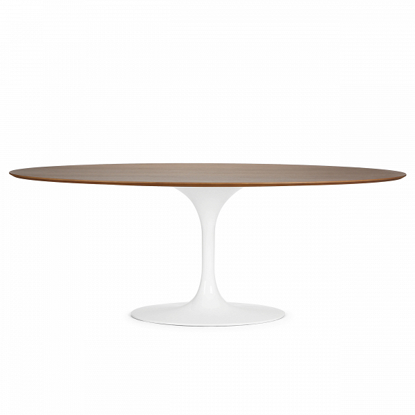 Обеденный стол Tulip овальный с деревянной столешницей