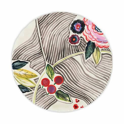 Тарелка Flower market 4Посуда<br><br><br>stock: 6<br>Материал: Фаянс<br>Цвет: Разноцветный/Colorful<br>Диаметр: 26