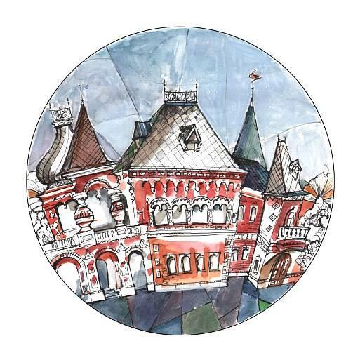 Тарелка French house