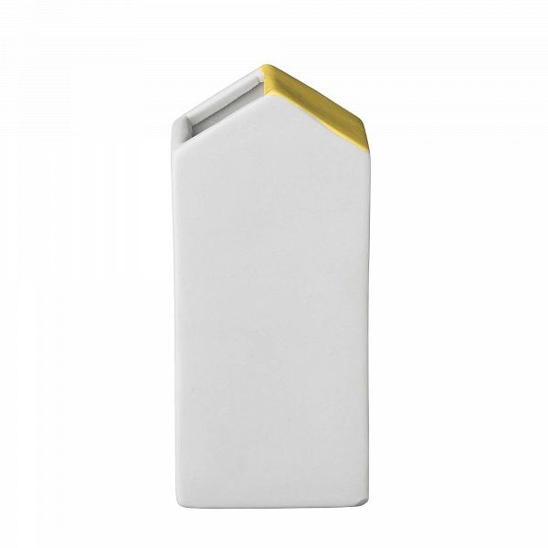 Ваза House YВазы<br><br><br>stock: 0<br>Высота: 13.5<br>Материал: Керамика<br>Цвет: Белый<br>Цвет дополнительный: Желтый