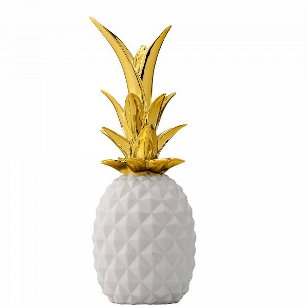 Декоративный ананас BloomingvilleНастольные<br><br><br>stock: 0<br>Высота: 24<br>Материал: Керамика<br>Цвет: Белый<br>Диаметр: 9<br>Цвет дополнительный: Золотой