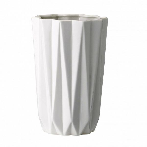 Ваза Bloomingville Geometric LВазы<br><br><br>stock: 0<br>Высота: 20<br>Материал: Керамика<br>Цвет: Белый<br>Диаметр: 12.7