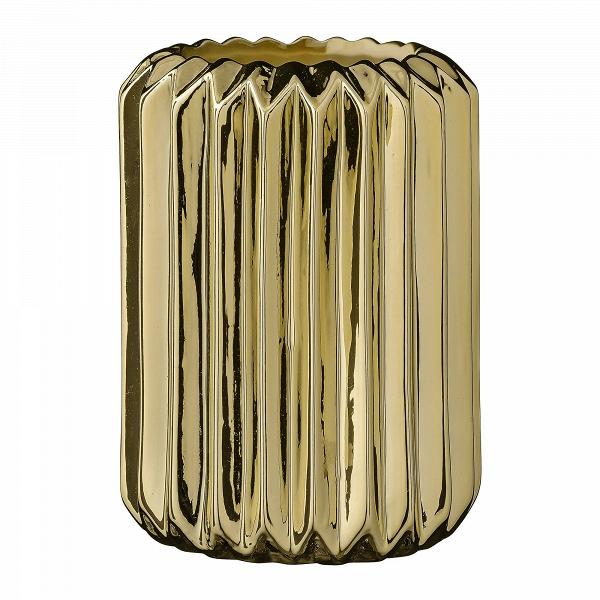 Ваза Bloomingville Fluted GoldВазы<br><br><br>stock: 0<br>Высота: 13.5<br>Материал: Керамика<br>Цвет: Золотой<br>Диаметр: 9.5