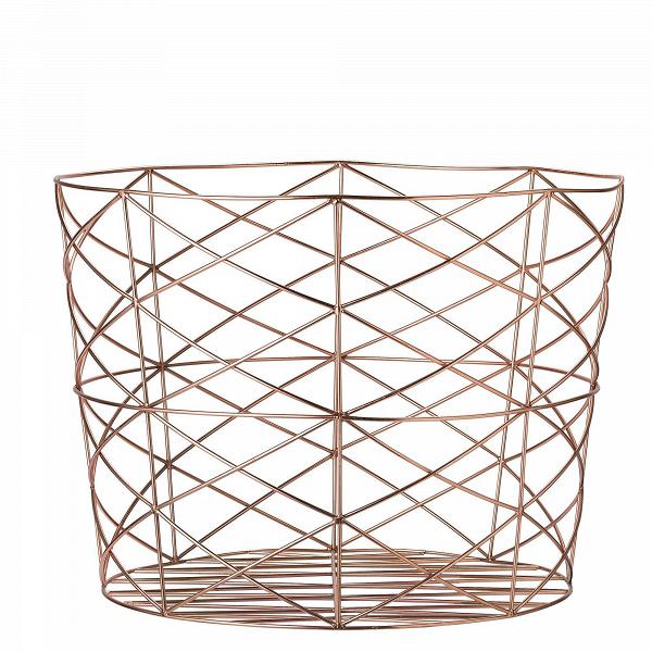Корзина для хранения Bloomingville металлическая меднаяДекоративная посуда<br><br><br>stock: 0<br>Высота: 40<br>Материал: Металл<br>Цвет: Медный<br>Диаметр: 55