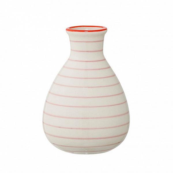 Ваза Bloomingville JagВазы<br><br><br>stock: 1<br>Высота: 11<br>Материал: Керамика<br>Цвет: Белый<br>Диаметр: 6.5<br>Цвет дополнительный: Красный