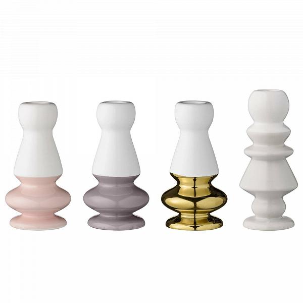 Набор подсвечников BloomingvilleПодсвечники и свечи<br><br><br>stock: 0<br>Высота: 14<br>Материал: Керамика<br>Цвет: Белый<br>Диаметр: 6.5