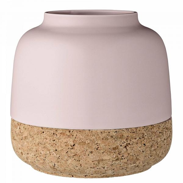 Ваза Bloomingville розоваяВазы<br><br><br>stock: 0<br>Высота: 22<br>Материал: Керамогранит<br>Цвет: Розовый<br>Диаметр: 23<br>Материал дополнительный: Пробковый дуб<br>Цвет дополнительный: Дуб