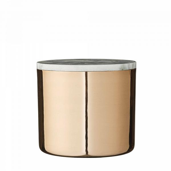 Емкость для хранения Bloomingville с крышкой из мрамораПосуда<br><br><br>stock: 1<br>Высота: 14<br>Материал: Сталь нержавеющая<br>Цвет: Золотой<br>Диаметр: 16<br>Материал дополнительный: Мрамор