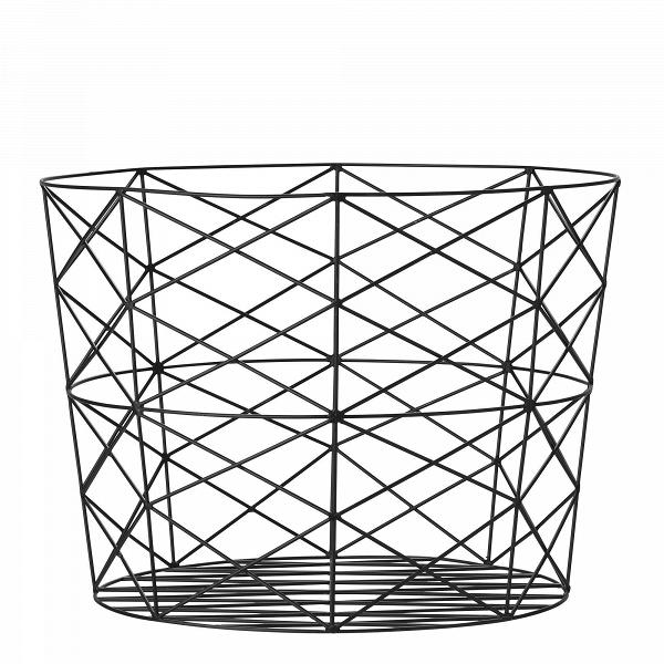 Корзина для хранения Bloomingville металлическая чернаяДекоративная посуда<br><br><br>stock: 0<br>Высота: 40<br>Материал: Металл<br>Цвет: Чёрный<br>Диаметр: 55