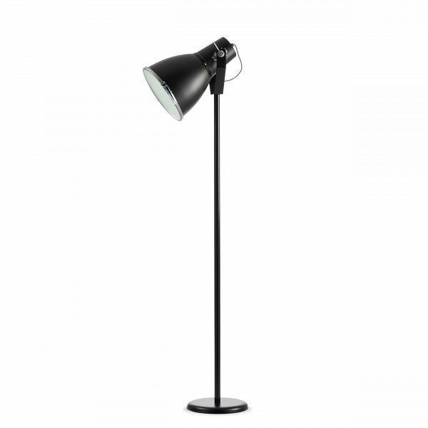 Напольный светильник StirrupНапольные<br>Напольный светильник Stirrup — это лампа, вдохновением для создания которой послужил маленький прожектор вВкузове игрушечного грузовика. Эта идея легла вВоснову создания коллекции StirrupВ— совершеннейшего шика индустриального дизайна.<br><br><br><br><br><br> Напольный светильник Stirrup может быть легко интегрирован воВмногие интерьерные решения.<br><br>stock: 2<br>Высота: 140<br>Диаметр: 23.5<br>Материал абажура: Алюминий<br>Мощность лампы: 60<br>Ламп в комплекте: Нет<br>Тип лампы/цоколь: E27<br>Цвет абажура: Черный