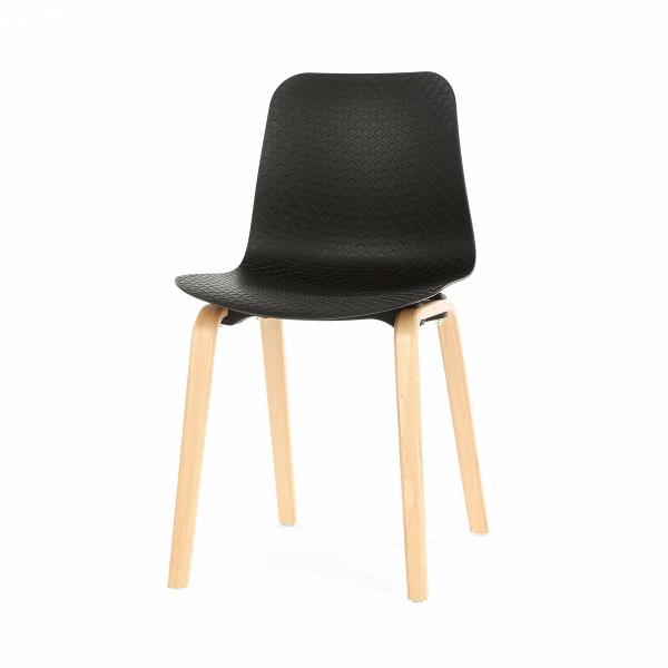 Стул DollyИнтерьерные<br>Оригинальный дизайн стула Dolly — это прекрасное нестандартное решение для современного интерьера. Мягко изгибающаяся форма стула удобна для длительного отдыха, она позволит расслабить спину, но при этом будет поддерживать правильную осанку. Стул может послужить и нескучным украшением комнаты благодаря интересному рельефу и игре света на поверхности сиденья и спинки.<br><br><br> Стул Dolly представляет собой гармоничное сочетание натурального дерева и ультрасовременного синтетического материала...<br><br>stock: 14<br>Высота: 80<br>Высота сиденья: 45<br>Ширина: 45<br>Глубина: 47<br>Цвет ножек: Светло-коричневый<br>Материал ножек: Массив бука<br>Цвет сидения: Черный<br>Тип материала сидения: Полипропилен<br>Тип материала ножек: Дерево