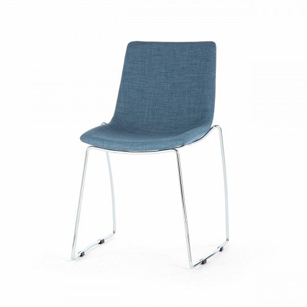 Стул BragaИнтерьерные<br>Лаконичный дизайн стула Braga делает его наиболее гармоничным дополнением для минималистичного интерьера. По своей форме стул отчасти напоминает мини-шезлонг: сплошное сиденье-спинка довольно глубокое и удобное для отдыха на улице или дома. У стула отсутствуют подлокотники, поэтому ничто не будет сковывать движения и «утяжелять» окружающее пространство.<br><br><br> Стул Braga — это сочетание ультрасовременных материалов. Сиденье и спинка обшиты полиэстером, необычайно прочной и износостойкой тк...<br><br>stock: 27<br>Высота: 81<br>Высота сиденья: 45<br>Ширина: 56<br>Глубина: 57<br>Цвет ножек: Хром<br>Цвет сидения: Синий<br>Тип материала сидения: Ткань<br>Тип материала ножек: Сталь