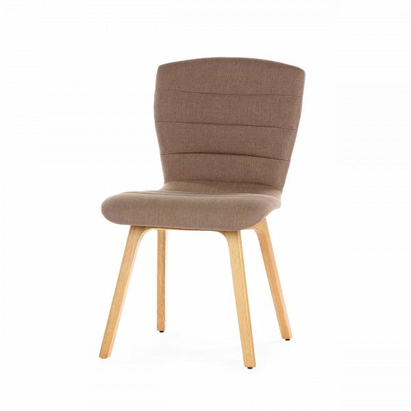 Стул JennaИнтерьерные<br>Дизайнерский стул Jenna будет особенно выигрышно смотреться в уютных помещениях, которые необходимо дополнить мягкими приятными формами и цветами. Стул обладает необычным дизайном: сиденье плавно переходит в удобнейшую высокую спинку, которая поможет расслабиться и отдохнуть вашей спине и не потерять при этом правильную осанку.<br><br><br> Ножки из каучукового дерева обладают высокой прочностью, они надежны и не расшатаются со временем. Обивка сшита из износостойкого полиэстера — идеального ма...<br><br>stock: 98<br>Высота: 86<br>Ширина: 51.5<br>Глубина: 56.5<br>Цвет ножек: Светло-коричневый<br>Материал ножек: Массив каучукового дерева<br>Материал сидения: Полиэстер<br>Цвет сидения: Бежево-серый<br>Тип материала сидения: Ткань<br>Тип материала ножек: Дерево