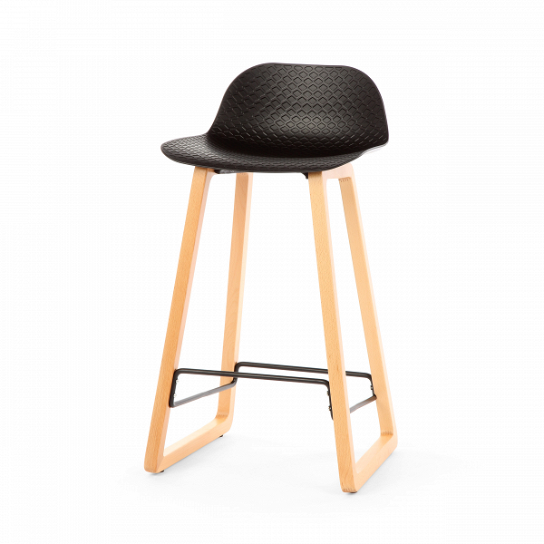 Барный стул Catina деревянныйБарные<br>Ультрасовременный дизайн барного стула Catina деревянный — это настоящий подарок для обладателя интерьера в стиле минимализм или хай-тек. Эти два стиля переосмысливают достижения высоких технологий о ценность свободного пространства и добавляют в них художественные черты. Барный стул Catina деревянный — прекрасный тому пример. Он отличается высокой функциональностью, лаконичным оформлением и необыкновенно красивыми, плавными линиями.<br><br><br> Барный стул Catina деревянный изготовлен из совре...<br><br>stock: 30<br>Высота: 86.5<br>Высота сиденья: 68<br>Ширина: 47<br>Глубина: 43.5<br>Цвет ножек: Черный<br>Материал ножек: Массив бука<br>Тип материала каркаса: Полипропилен<br>Тип материала ножек: Дерево<br>Цвет каркаса: Черный