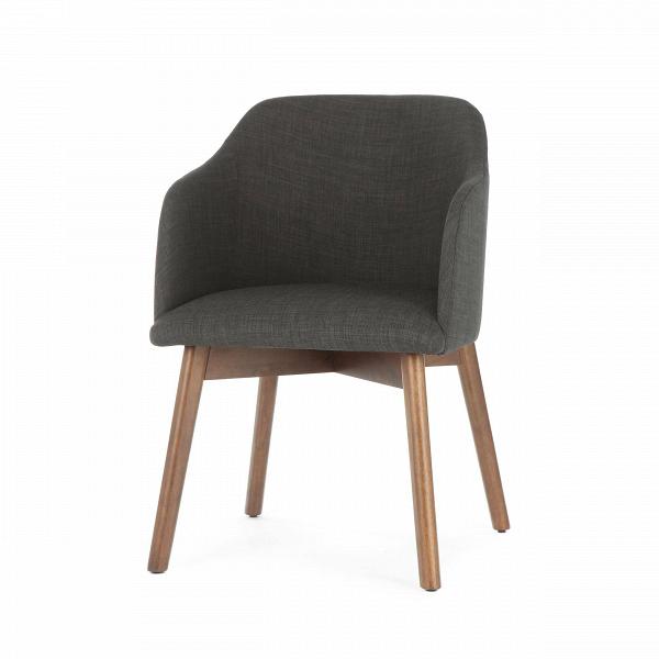 Стул MonteraИнтерьерные<br>Стул Montera гармонично сочетает в себе современный стиль, классические формы и непревзойденный комфорт. Особенно уютно он выглядит благодаря сплошным высоким подлокотникам, благодаря которым стул похож на теплое гнездышко. В дизайне изделия просматривается немецкий стиль, который отличается четкостью и строгостью, но не чужд привлекательности и комфорта.<br><br><br> Стул Montera представляет собой сочетание высококачественных и практичных материалов. Каучуковый каркас обладает высокой устойчиво...<br><br>stock: 3<br>Высота: 81<br>Ширина: 60.5<br>Глубина: 61<br>Цвет ножек: Орех<br>Материал ножек: Массив каучукового дерева<br>Материал сидения: Полиэстер<br>Цвет сидения: Графит<br>Тип материала сидения: Ткань<br>Тип материала ножек: Дерево