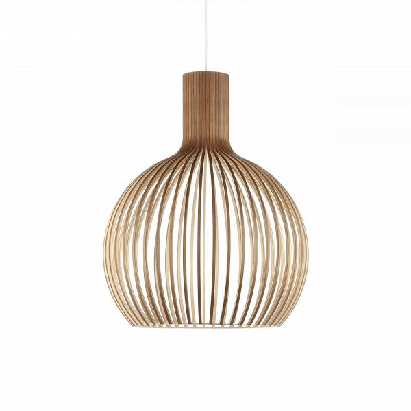 Подвесной светильник Octo 4240Подвесные<br>Подвесной светильник Octo 4240<br><br> Компания Secto Design является финским производителем дизайнерских светильников изВдерева, обретающих всемирную известность. Изготавливаемые вручную высококвалифицированными специалистами изВнатуральной древесины березы, они наделены простотой иВчеткостью скандинавского стиля. Торшеры, подвесные светильники иВнастенные бра, аВтакже настольные лампы обеспечивают мягкое свечение иВпридают атмосферность любому помещению.<br><br><br> Под...<br><br>stock: 1<br>Высота: 68<br>Диаметр: 54<br>Количество ламп: 1<br>Материал арматуры: Орех шпон<br>Мощность лампы: 40<br>Ламп в комплекте: Нет<br>Напряжение: 220<br>Теплота света: 3000<br>Тип лампы/цоколь: E27<br>Цвет арматуры: Натуральный<br>Дизайнер: Seppo Koho