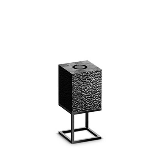 Настольный светильник Cubx S, BurnНастольные<br>Настольный светильник Cubх S, Burn самый компактный светильник серии Cubx. Как и все светильники Handy, настольный светильник Cubх S, Burn оснащен светодиодами отличного качества, яркость которых можно варьировать от декоративной ночной подсветки до очень яркого источника дополнительного освещения. Управление яркостью осуществляется переносным деревянным пультом, который примагничивается к корпусу светильника в специальной нише сверху. Пульт можно достать и управлять светильником дистанционно...<br><br>stock: 0<br>Высота: 45<br>Ширина: 20<br>Длина: 20<br>Длина провода: 300<br>Количество ламп: 1<br>Материал абажура: Дерево<br>Материал арматуры: Металл<br>Мощность лампы: 12<br>Ламп в комплекте: Да<br>Напряжение: 220<br>Степень защиты: 40<br>Теплота света: 3000<br>Тип лампы/цоколь: E27<br>Цвет абажура: Черный<br>Цвет арматуры: Черный<br>Цвет провода: Черный