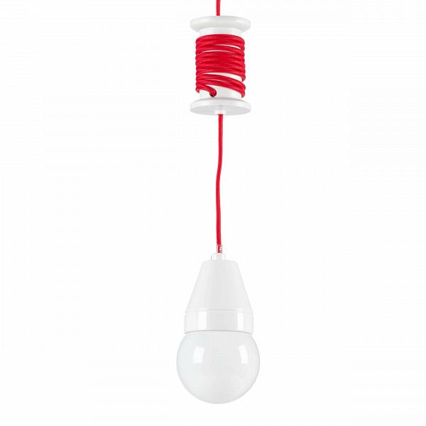 Подвесной светильник SpoolПодвесные<br><br><br>stock: 3<br>Высота: 10<br>Мощность лампы: 23<br>Ламп в комплекте: Нет<br>Тип лампы/цоколь: E27<br>Цвет провода: Красный