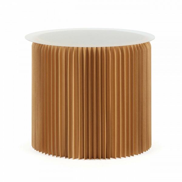 Стол бумажный высота 50 смКофейные столики<br>Кофейные столики могут не только служить удобным приспособлением в интерьере, но и украшать его своим внешним видом. Бумажный дизайн — это совершенная новинка в мире современного интерьера. Стол бумажный высота 50 см привлекает внимание, он разнообразит любую обстановку и станет незаменимой частью мебельной композиции комнаты.<br><br><br> Стол бумажный высота 50 см представляет собой цилиндр-гармошку из настоящей бумаги, которая спрессована особым образом и пропитана влагоотталкивающим веществ...<br><br>stock: 9<br>Высота: 50<br>Диаметр: 56<br>Цвет столешницы: Прозрачный<br>Материал каркаса: Бумага<br>Тип материала столешницы: Акрил<br>Цвет каркаса: Коричневый