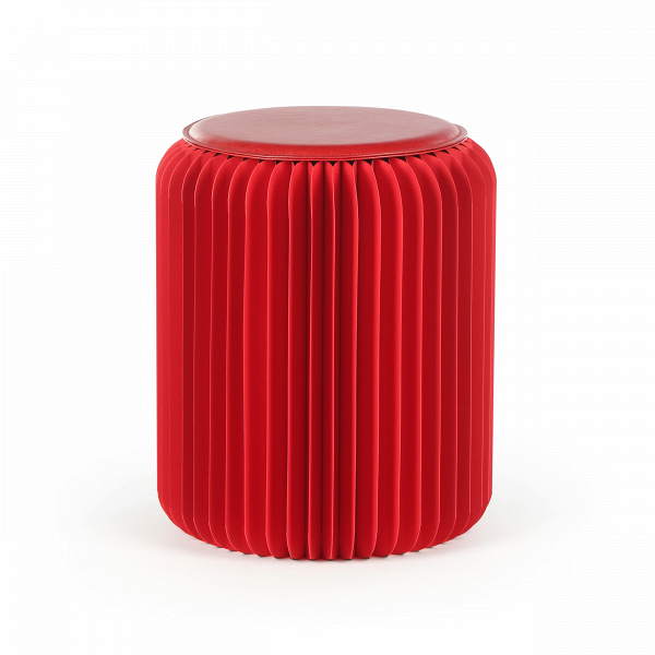 Табурет бумажный высота 42 смТабуреты<br><br><br>stock: 8<br>Высота: 42<br>Диаметр: 36<br>Материал каркаса: Бумага<br>Цвет сидения: Красный<br>Тип материала сидения: Полиуретан<br>Цвет каркаса: Красный