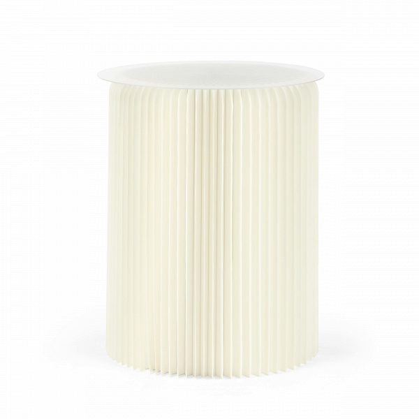 Стол бумажный высота 75 смКофейные столики<br>Если вы хотите преобразить домашний интерьер, привнести в него свежесть и оригинальные формы, то бумажная мебель может стать прекрасным решением для этих задач. Стол бумажный высота 75 см обладает высокой прочностью, а его необычный и очень красивый дизайн станет настоящим украшением всего интерьера.<br><br><br> Стол бумажный высота 75 см представляет собой цилиндр-гармошку из настоящей бумаги, которая спрессована особым образом и пропитана влагоотталкивающим веществом. Все это придает изделию...<br><br>stock: 10<br>Высота: 75<br>Диаметр: 56<br>Цвет столешницы: Прозрачный<br>Материал каркаса: Бумага<br>Тип материала столешницы: Акрил<br>Цвет каркаса: Белый