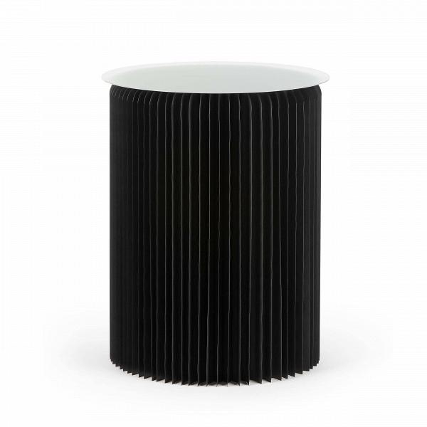 Стол бумажный высота 75 смКофейные столики<br>Если вы хотите преобразить домашний интерьер, привнести в него свежесть и оригинальные формы, то бумажная мебель может стать прекрасным решением для этих задач. Стол бумажный высота 75 см обладает высокой прочностью, а его необычный и очень красивый дизайн станет настоящим украшением всего интерьера.<br><br><br> Стол бумажный высота 75 см представляет собой цилиндр-гармошку из настоящей бумаги, которая спрессована особым образом и пропитана влагоотталкивающим веществом. Все это придает изделию...<br><br>stock: 6<br>Высота: 75<br>Диаметр: 56<br>Цвет столешницы: Прозрачный<br>Материал каркаса: Бумага<br>Тип материала столешницы: Акрил<br>Цвет каркаса: Черный
