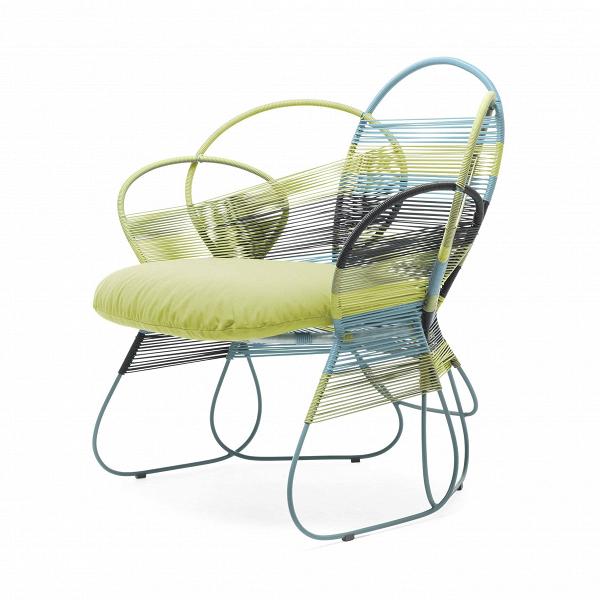 Кресло Trame EasyУличная мебель<br>Дизайнерское креативное плетеное кресло Trame easy (Трэм Изи) из ротанга от Kenneth Cobonpue (Кеннет Кобонпу)<br><br><br> Королевская семья, Анджелина Джоли и отели Four Seasons не случайно доверили филиппинцу Кеннету Кобонпу оформление интерьеров. Он изучал промышленный дизайн в Нью-Йорке, работал в Германии и Италии и приобрел известность благодаря своей инновационной мебели из материалов родных Филиппин — ротанга, бамбука и морского тростника. В его мебели сошлись оригинальный дизайн, природн...<br><br>stock: 1<br>Высота: 86<br>Ширина: 91<br>Глубина: 80<br>Цвет подушки: Оранжевый<br>Сфера использования: Уличное использование<br>Материал каркаса: Ротанг искусственный<br>Материал обивки: Нейлон<br>Тип материала каркаса: Полиэтилен<br>Тип материала обивки: Ткань<br>Цвет обивки: Разноцветный<br>Цвет каркаса: Разноцветный<br>Дизайнер: Kenneth Cobonpue
