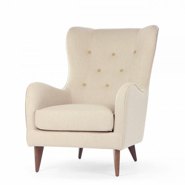 Кресло PolaИнтерьерные<br>Дизайнерское мягкое удобное кресло Pola (Пола) с тканевой обивкой от Sits (Ситс).<br><br><br> Дизайнеры компании Sits, чья мебель имеет выраженные шведские черты, не перестает радовать новыми моделями мягкой мебели. Изящные и невероятно удобные формы кресла Pola помогут вам расслабиться и отдохнуть даже в самый разгар трудового дня. На выбор имеется большое количество вариантов цветового исполнения обивки кресла, благодаря чему вы легко подберете именно то, что лучше всего подойдет вашей комнате...<br><br>stock: 0<br>Высота: 102<br>Высота сиденья: 45<br>Ширина: 77<br>Глубина: 96<br>Цвет ножек: Орех<br>Материал обивки: Ткань<br>Степень комфортности: Стандарт комфорт<br>Материал пуговиц: Ткань<br>Цвет пуговиц: Горчичный<br>Тип материала ножек: Дерево<br>Цвет обивки: Бежевый