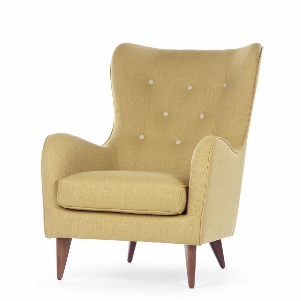 Кресло PolaИнтерьерные<br>Дизайнерское мягкое удобное кресло Pola (Пола) с тканевой обивкой от Sits (Ситс).<br><br><br> Дизайнеры компании Sits, чья мебель имеет выраженные шведские черты, не перестает радовать новыми моделями мягкой мебели. Изящные и невероятно удобные формы кресла Pola помогут вам расслабиться и отдохнуть даже в самый разгар трудового дня. На выбор имеется большое количество вариантов цветового исполнения обивки кресла, благодаря чему вы легко подберете именно то, что лучше всего подойдет вашей комнате...<br><br>stock: 0<br>Высота: 102<br>Высота сиденья: 45<br>Ширина: 77<br>Глубина: 96<br>Цвет ножек: Орех<br>Материал обивки: Полиэстер<br>Степень комфортности: Стандарт комфорт<br>Цвет пуговиц: Бежевый<br>Коллекция ткани: Категория ткани А<br>Тип материала обивки: Ткань<br>Тип материала ножек: Дерево<br>Цвет обивки: Горчичный