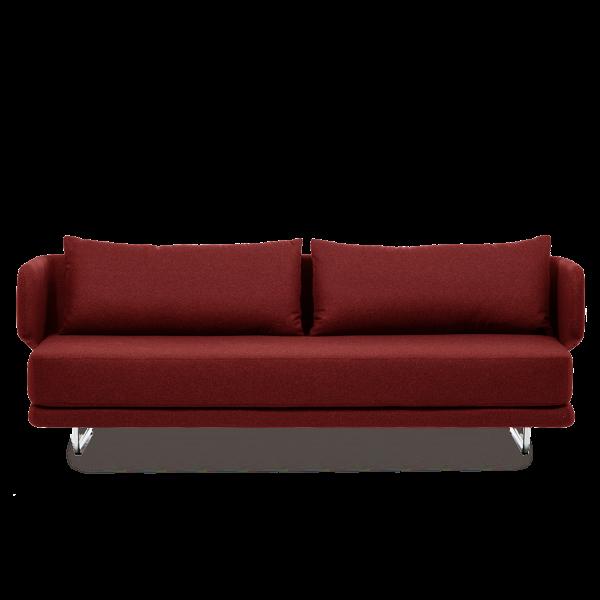 Диван JasperРаскладные<br>Дизайнерский однотонный раскладной диван-кровать Jasper (Джаспер) от Softline (Софтлайн)<br><br> Диван Jasper — это стильный иВпрактичный современный диван-кровать, идеально подходящий иВдля частных домов, иВдля общественных мест. Дизайн спинки позволяет вам сидеть вВ«углах» дивана, предлагая еще много способов расслабиться. Диван легко трансформируется вВудобную кровать для двух взрослых.<br><br><br><br><br><br>  Оригинальный диван Jasper выполнен по дизайну датского дуэта Флеммин...<br><br>stock: 0<br>Высота: 72<br>Высота сиденья: 39<br>Глубина: 83<br>Длина: 212<br>Цвет ножек: Хром<br>Материал обивки: Хлопок, Полиэстер<br>Коллекция ткани: Vision<br>Тип материала обивки: Ткань<br>Тип материала ножек: Сталь<br>Цвет обивки: Бордовый<br>Дизайнер: Busk + Hertzog