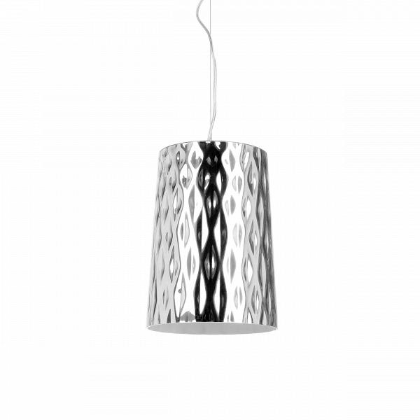 Подвесной светильник StampingПодвесные<br>Подвесной светильник Stamping - это интересное дизайнерское решение для помещений, обустроенных в стиле минимализма и хай-тек. Эпоха высоких технологий требует стильного соответствия, а лампа полностью ему отвечает. Минимализм прослеживается в аккуратных линиях, серебряном оттенке покрытия.В<br><br><br> Stamping - это источник качественного освещения,которыйВдает яркий и очень ровный свет. ОнВнепременно надежненВи прочнен. Рекомендован к использованию в кухне, офисе, спальне....<br><br>stock: 0<br>Высота: 120<br>Диаметр: 22<br>Количество ламп: 1<br>Материал абажура: Стекло<br>Материал арматуры: Металл<br>Ламп в комплекте: Нет<br>Напряжение: 220<br>Тип лампы/цоколь: E27<br>Цвет абажура: Серебряный