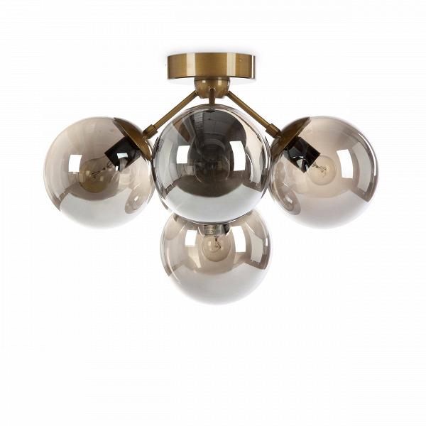 Потолочный светильник FirefliesПотолочные<br>Потолочный светильник Fireflies — сказочное творение ведущих западных дизайнеров, созданное специально для того, чтобы украшать помещение и задавать в нем особую тонкую атмосферу. Светильник состоит из нескольких шарообразных плафонов. Плафоны напоминают собой легких светлячков, которые собрались вместе, чтобы осветить пространство вашей комнаты.<br><br><br><br><br> Плафоны светильника изготовлены из прочного, полупрозрачного стекла необычного коньячного цвета. Основание и крепления светильника вып...<br><br>stock: 5<br>Высота: 36<br>Диаметр: 49<br>Количество ламп: 5<br>Материал абажура: Стекло<br>Материал арматуры: Сталь<br>Мощность лампы: 10<br>Ламп в комплекте: Нет<br>Напряжение: 220<br>Тип лампы/цоколь: E27<br>Цвет абажура: Дымчато-серый<br>Цвет арматуры: Латунь