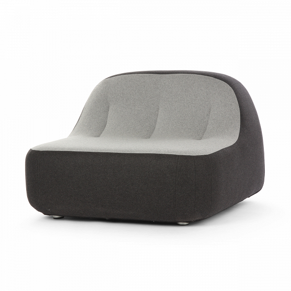 Кресло SandИнтерьерные<br>Дизайнерское футуристичное широкое кресло Sand (Сэнд) округлой формы без подлокотников от Softline (Софтлайн).<br><br> Кресло Sand — это ультрасовременный дизайн, вдохновленный природой. На его создание испанских дизайнеров Хосе Эстебана и Хавьера Морено вдохновила вода, которая вВтечение долгого времени шлифует и изменяет камни, лежащие наВее пути, иВпостоянно создает новые формы.<br><br><br><br> Хосе Эстебан начал свою карьеру в 1992 году сразу в нескольких различных направлениях — ди...<br><br>stock: 3<br>Высота: 71<br>Высота сиденья: 36<br>Ширина: 100<br>Глубина: 100<br>Материал обивки: Шерсть, Полиамид<br>Цвет обивки дополнительный: Серый<br>Коллекция ткани: Felt<br>Тип материала обивки: Ткань<br>Цвет обивки: Антрацит