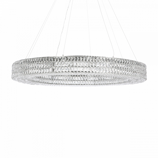 Подвесной светильник Spiridon диаметр 150Подвесные<br><br><br>stock: 18<br>Высота: 16<br>Диаметр: 150<br>Количество ламп: 21<br>Материал абажура: Хрусталь<br>Материал арматуры: Металл<br>Мощность лампы: 25<br>Тип лампы/цоколь: E14<br>Цвет абажура: Прозрачный<br>Цвет арматуры: Хром