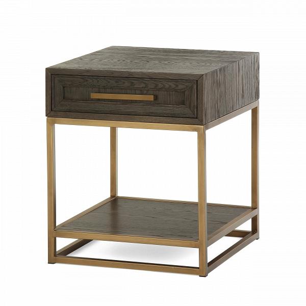 Кофейный стол Bullard 50х50 смКофейные столики<br>Кофейный стол Bullard 50x50 см представляет собой гармонию строгости и элегантности. Никакой напыщенности, только четкая форма, ровные линии и изысканный дизайн. Дизайнер сделал свое творение по-современному функциональным: у столика имеются два уровня, а также вместительный выдвижной шкафчик.<br><br><br> Качественные материалы подчеркивают благородное происхождение кофейного стола Bullard 50x50 см. Столешницы и шкафчик изготовлены из ценного дубового массива, который по праву считается одной и...<br><br>stock: 12<br>Высота: 61.5<br>Ширина: 50<br>Длина: 50<br>Цвет столешницы: Темно-коричневый<br>Материал столешницы: Массив дуба<br>Тип материала каркаса: Металл<br>Тип материала столешницы: Дерево<br>Цвет каркаса: Золотой