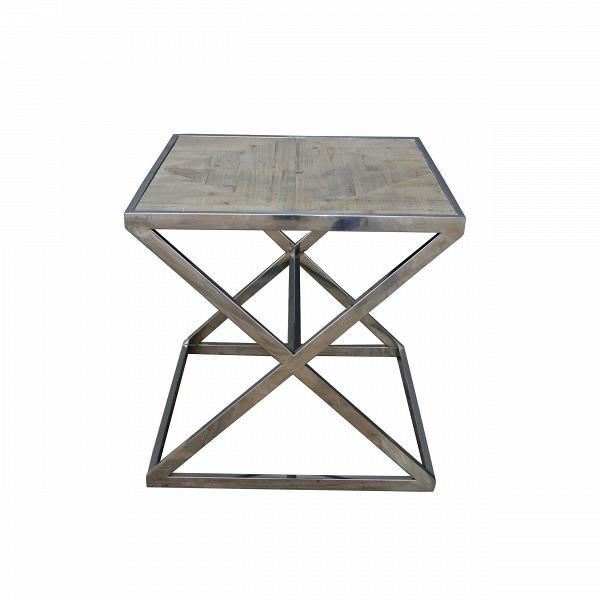 Кофейный стол CatalanКофейные столики<br>Кофейный стол Catalan представляет собой интересное сочетание простоты, аскетичности и брутального стиля. Изюминкой модели являются его ножки, которые собраны в надежную хитроумную конструкцию.<br><br><br> Кофейный стол Catalan — это образец прочности и качества. Дизайнер сделал его брутальным не только визуально, но и изнутри. Столешница изготовлена из массива ели – экологичного и прочного материала. Остальные детали – опора, ножки, обод – сделаны из надежной стали, которой не страшна коррозия....<br><br>stock: 0<br>Высота: 60<br>Ширина: 60<br>Длина: 60<br>Цвет ножек: Хром<br>Цвет столешницы: Коричневый<br>Материал ножек: Сталь нержавеющая<br>Материал столешницы: Массив ели состаренный<br>Тип материала столешницы: Дерево