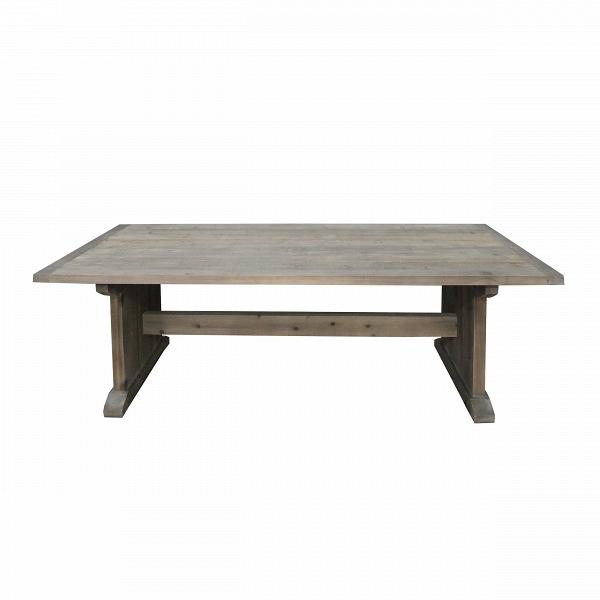 Обеденный стол HaywoodОбеденные<br>Обеденный стол Haywood спроектирован по мотивам роскошных исторических решений богатых интерьеров. Изделие выглядит весьма внушительным и способно создать в помещении атмосферу надежности и подчеркнуть изысканный вкус своего владельца.<br><br><br> Обеденный стол Haywood изготовлен из непривычного для современного города материала – древесины ели. Это очень «теплое» дерево, оно привнесет в любое помещение домашний уют и природную красоту. Все стыки частей стола выполнены на высшем уровне, изделие...<br><br>stock: 0<br>Высота: 78<br>Ширина: 100<br>Длина: 240<br>Материал каркаса: Ель восстановленная<br>Тип материала каркаса: Дерево<br>Цвет каркаса: Коричневый