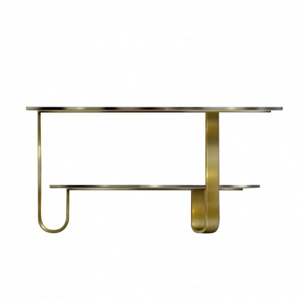Кофейный стол LowellКофейные столики<br>Кофейный стол Lowell Вможет стать не только удобным и функциональным элементом интерьера, но и его оригинальным украшением. Дизайнерская задумка проявила себя во всей красе – прекрасное сочетание темного стекла и цвета антикварного золота, практичное разделение на два уровня и удивительная конструкция ножек делают это изделие настоящим произведением искусства.<br><br><br> Кофейный стол Lowell изготавливается из высококачественных, надежных материалов. Столешницы сделаны из прочного стекла, ...<br><br>stock: 0<br>Высота: 42<br>Диаметр: 90<br>Цвет столешницы: Черный<br>Тип материала каркаса: Металл<br>Тип материала столешницы: Стекло<br>Цвет каркаса: Золото антикварное