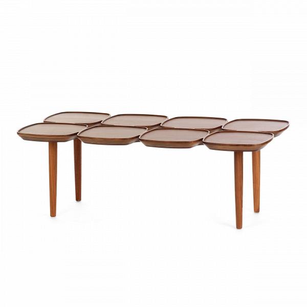 Кофейный стол Petal-8Кофейные столики<br>Кофейные столики уже давно вошли в нашу жизнь благодаря своей невероятной функциональности и стильному дизайну. Они играют немаловажную роль не только в интерьере, но и в вашем самоощущении, ведь именно кофейный столик помогает создать комфорт и настроение за чашечкой чая или кофе.<br><br><br> Здесь представлен весьма необычный кофейный стол Petal-8 от американского дизайнера с мировым именем Шона Дикса. Оригинальный дизайн стола привлекает внимание и дополняет обстановку комнаты своим стильны...<br><br>stock: 0<br>Высота: 34<br>Ширина: 100<br>Диаметр: 50<br>Материал каркаса: Массив ореха<br>Тип материала каркаса: Дерево<br>Цвет каркаса: Орех американский<br>Дизайнер: Sean Dix