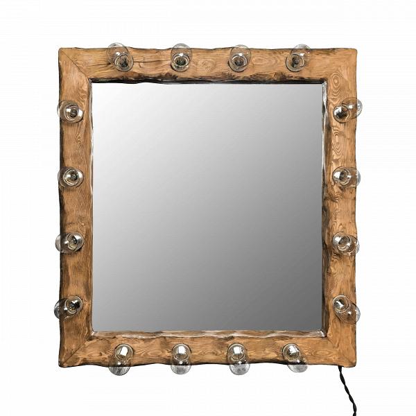Зеркало с подсветкой Cube_МНастенные<br><br><br>stock: 0<br>Высота: 70<br>Ширина: 10<br>Длина: 65<br>Количество ламп: 16<br>Материал арматуры: Сосна<br>Мощность лампы: 40<br>Ламп в комплекте: Нет<br>Напряжение: 230<br>Тип лампы/цоколь: E27<br>Цвет арматуры: Дуб<br>Цвет провода: Коричневый