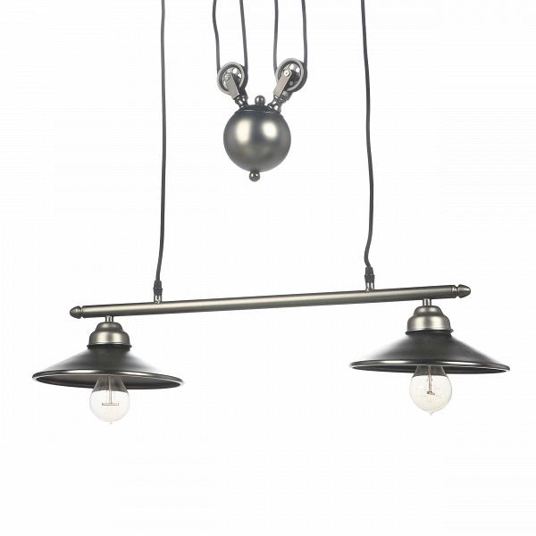 Подвесной светильник MechanismПодвесные<br>Замысловатая конструкция подвесного светильник Mechanism уже сама по себе будто инсталляция из какого-нибудь музея современных искусств. Ощущение, что это не просто светильник, а часть объемного механизма, заложено уже в самом названии. Использованные в изготовлении материалы (стекло, сталь) и отдельные псевдофункциональные элементы — это стилизация под один из самых актуальныхВдля нашего столетияВстилей техно.<br> <br> Интерьеры в стиле техно больше подходят тем, кто не особо ценит иде...<br><br>stock: 5<br>Высота: 110<br>Ширина: 22<br>Длина: 70<br>Длина провода: 150<br>Количество ламп: 2<br>Материал абажура: Сталь<br>Мощность лампы: 40<br>Ламп в комплекте: Нет<br>Напряжение: 220<br>Тип лампы/цоколь: E27<br>Цвет абажура: Черно-серый<br>Цвет провода: Черный