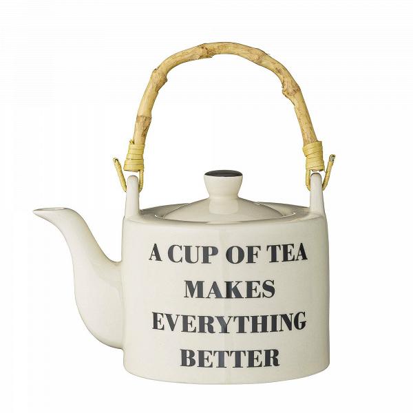 Заварник A Cup of TeaПосуда<br><br><br>stock: 0<br>Высота: 12<br>Материал: Керамика<br>Цвет: Слоновая кость<br>Диаметр: 18