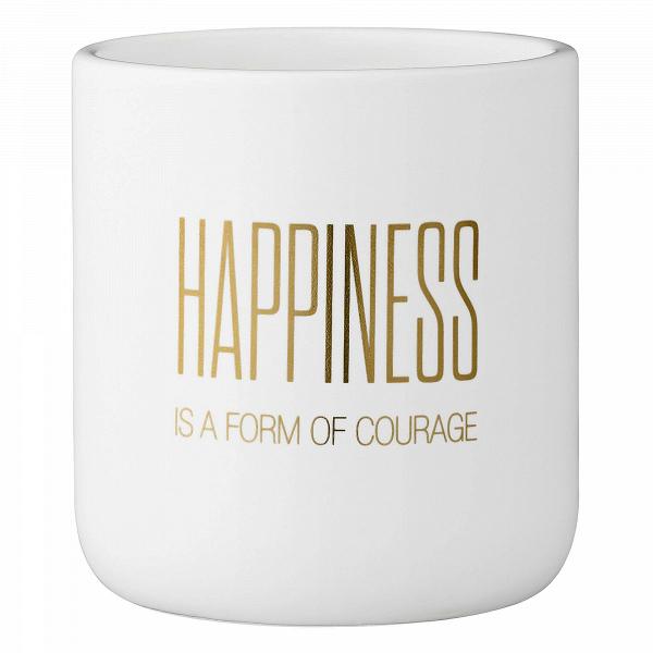 Кашпо HappinessКашпо<br><br><br>stock: 0<br>Высота: 10,5<br>Материал: Керамика<br>Цвет: Белый<br>Диаметр: 9,5