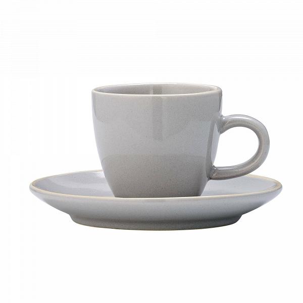 Чашка с блюдцем Bloomingville сераяПосуда<br><br><br>stock: 0<br>Высота: 5,5<br>Материал: Керамика<br>Цвет: Серый<br>Диаметр: 6; 11,5