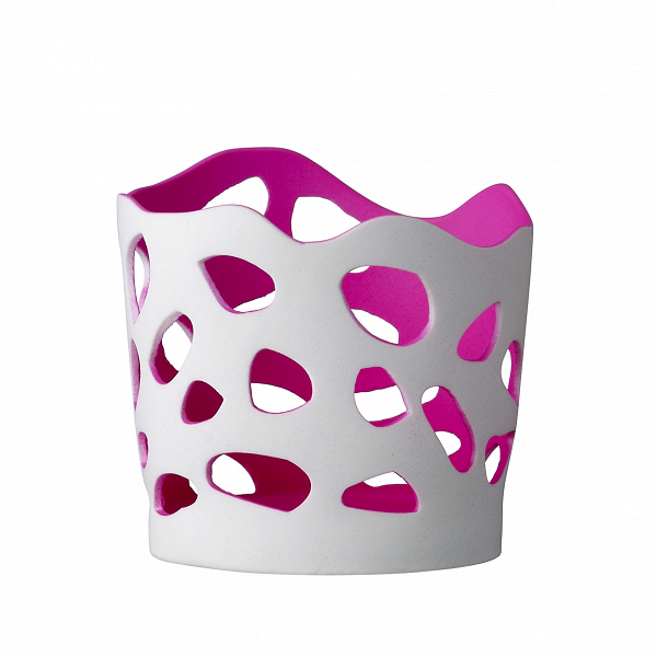 Подсвечник Pink GlowПодсвечники и свечи<br><br><br>stock: 3<br>Высота: 10<br>Материал: Фарфор<br>Цвет: Белый<br>Диаметр: 10